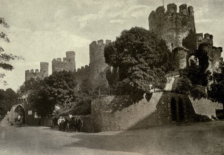 On Old-World Highways - Conway Castle-the Outer Wall (1914)