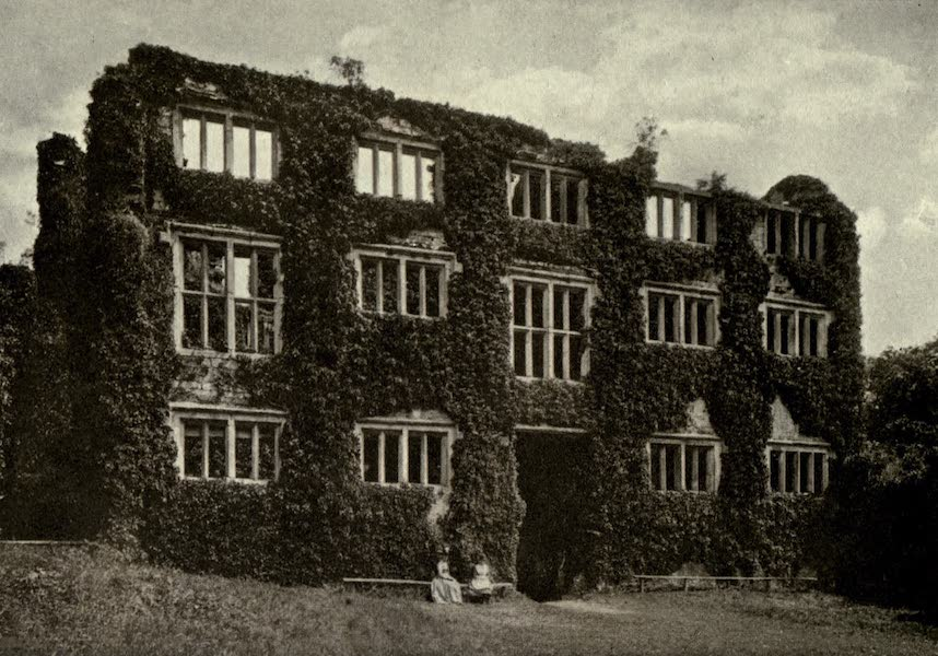 On Old-World Highways - Berry Pomeroy Castle-wall of Inner Court (1914)
