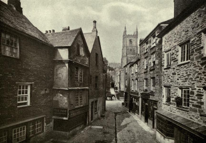 On Old-World Highways - A Street in Fowey-cornwall (1914)