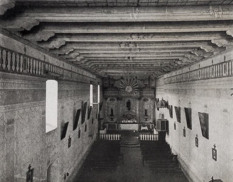 On Sunset Highways - Interior Church, San Miguel (1915)