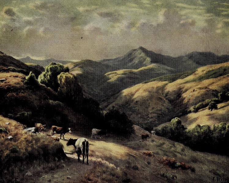 On Sunset Highways - A Distant View of Mt. Tamalpais (1915)