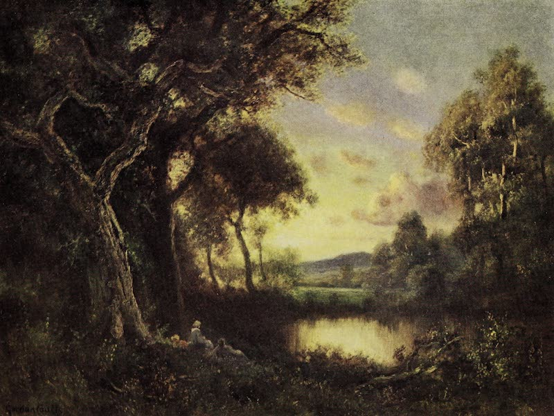 Oregon, the Picturesque - The Oaks at Sunset (1917)