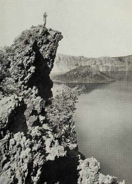 Oregon, the Picturesque - Wizard Island from Garfield Peak (1917)