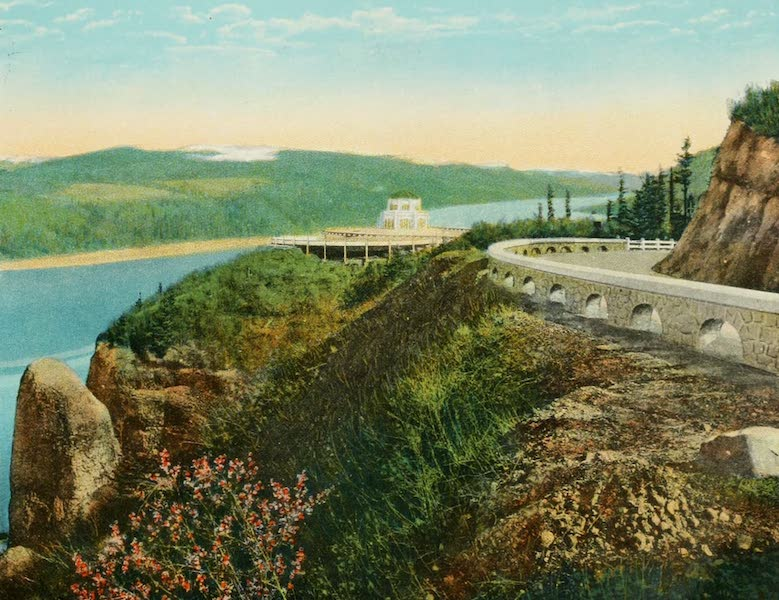 Oregon's Famous Columbia River Highway - Vista House at Crown Point (1920)