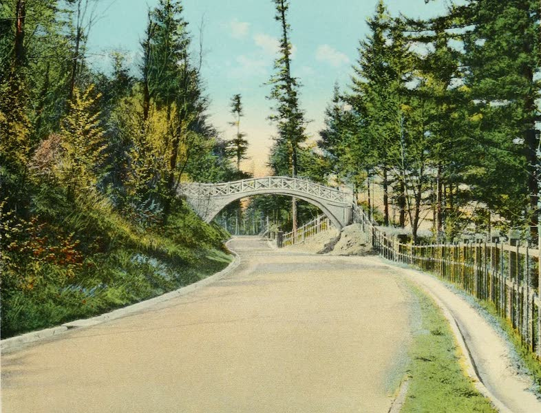 Oregon's Famous Columbia River Highway - Talbot Bridge near Latourelle Falls (1920)