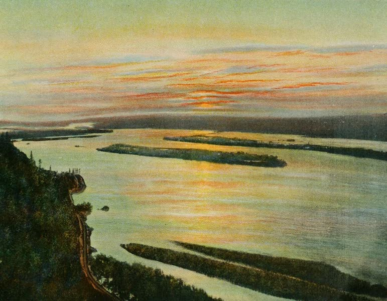 Oregon's Famous Columbia River Highway - A Columbia River Gorge Sunset (1920)