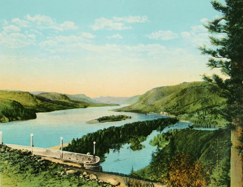 Oregon's Famous Columbia River Highway - The Gorge of the Columbia from Crown Point (1920)