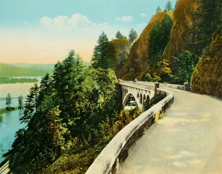Oregon's Famous Columbia River Highway - Shepperd's Dell and Bridge (1920)