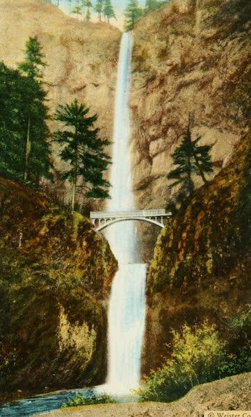 Oregon's Famous Columbia River Highway - Benson Bridge at Multnomah Falls (1920)