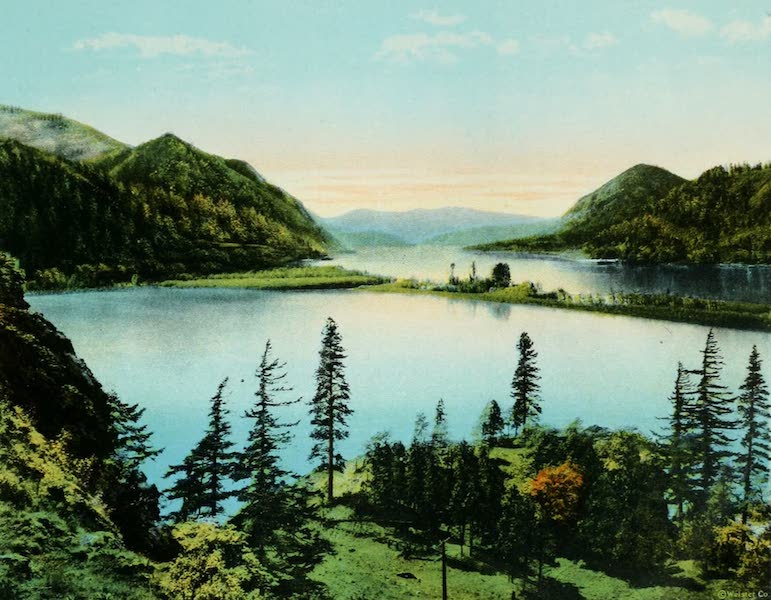Oregon's Famous Columbia River Highway - Columbia Gorge at Wind Mountain (1920)