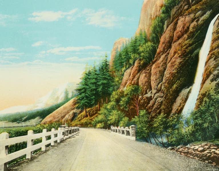 Oregon's Famous Columbia River Highway - Horsetail Falls (1920)
