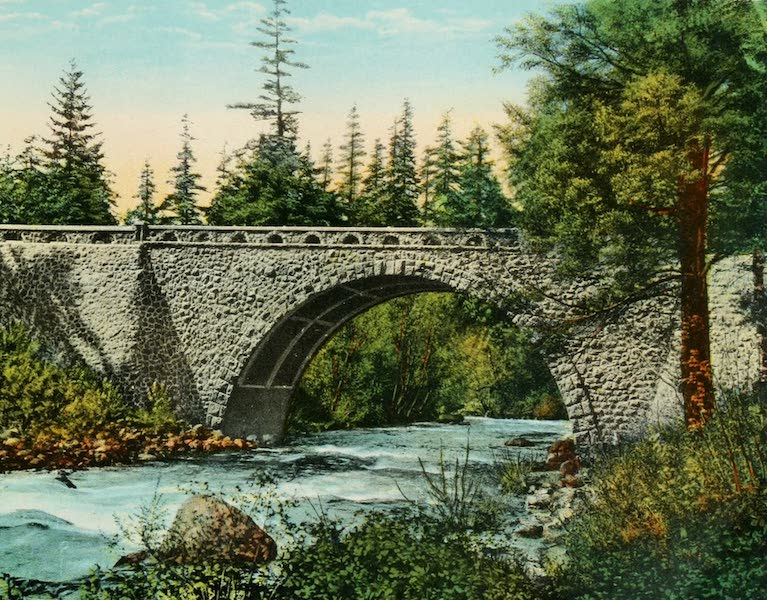 Oregon's Famous Columbia River Highway - Eagle Creek and Highway Bridge (1920)