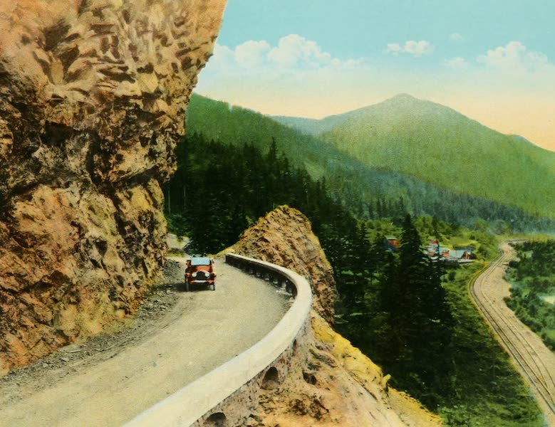 Oregon's Famous Columbia River Highway - Approach to Mitchell's Point (1920)