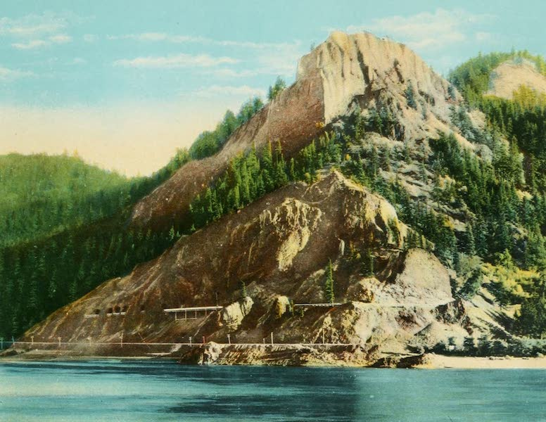Oregon's Famous Columbia River Highway - Mitchell's Point from the Columbia River (1920)