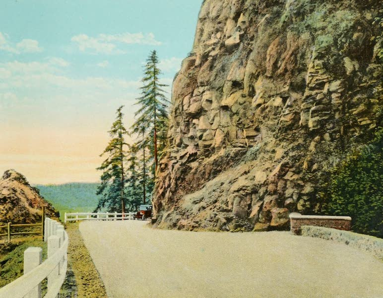 Oregon's Famous Columbia River Highway - Near Little Jack Falls, Lower Columbia River Highway (1920)