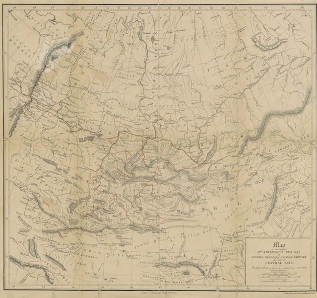 Oriental and Western Siberia - Map to Accompany Mr. Atkinson's Travels (1858)