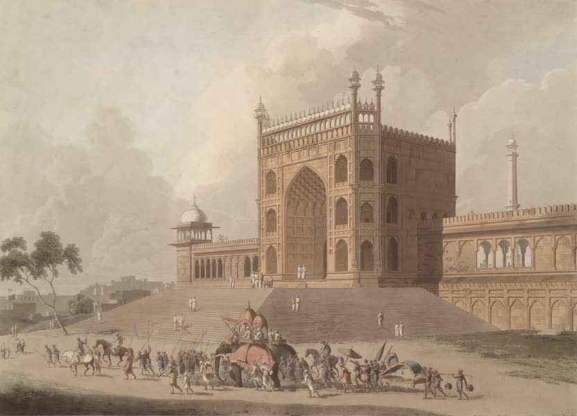 Oriental Scenery Vol. 1 - Eastern Gate of the Jummah Musjid at Delhi (1795)