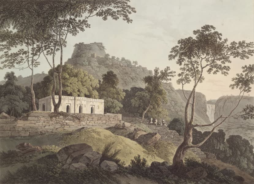 Oriental Scenery Vol. 1 - Raje Gaut, the principal Road up Rotas Ghur (1795)