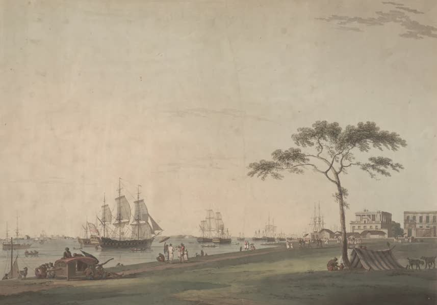Oriental Scenery Vol. 2 - View taken on the Esplanade, Calcutta (1797)