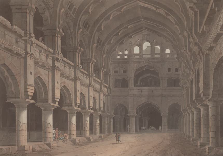 Oriental Scenery Vol. 2 - Interior View of the Palace, Madura (1797)