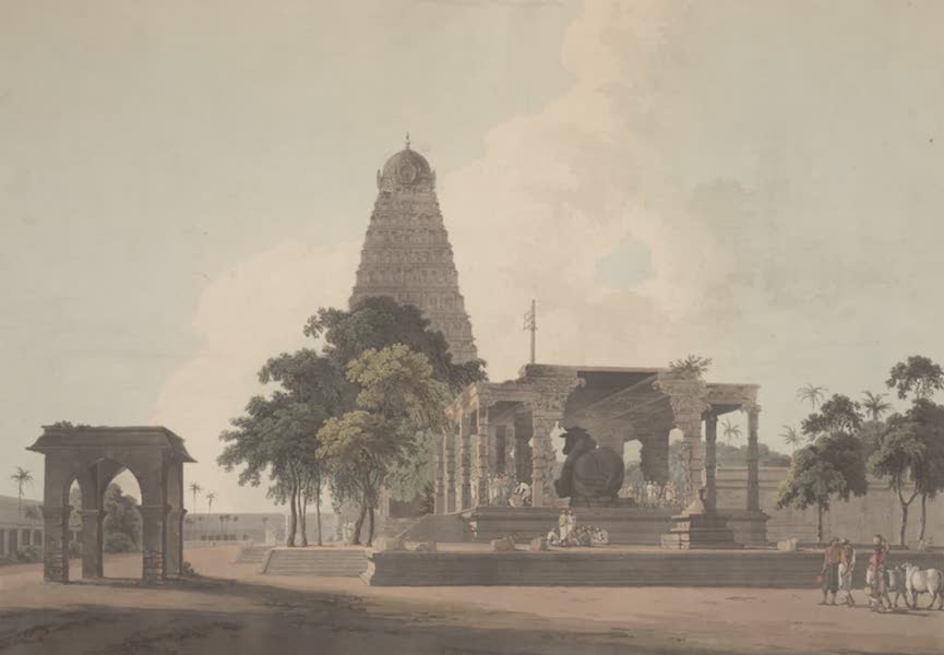 Oriental Scenery Vol. 2 - The Great Bull, an Hindoo Idol, at Tanjore (1797)