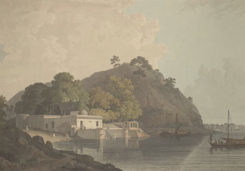 Oriental Scenery Vol. 3 - Near the Fort of Currah, on the River Ganges (1802)
