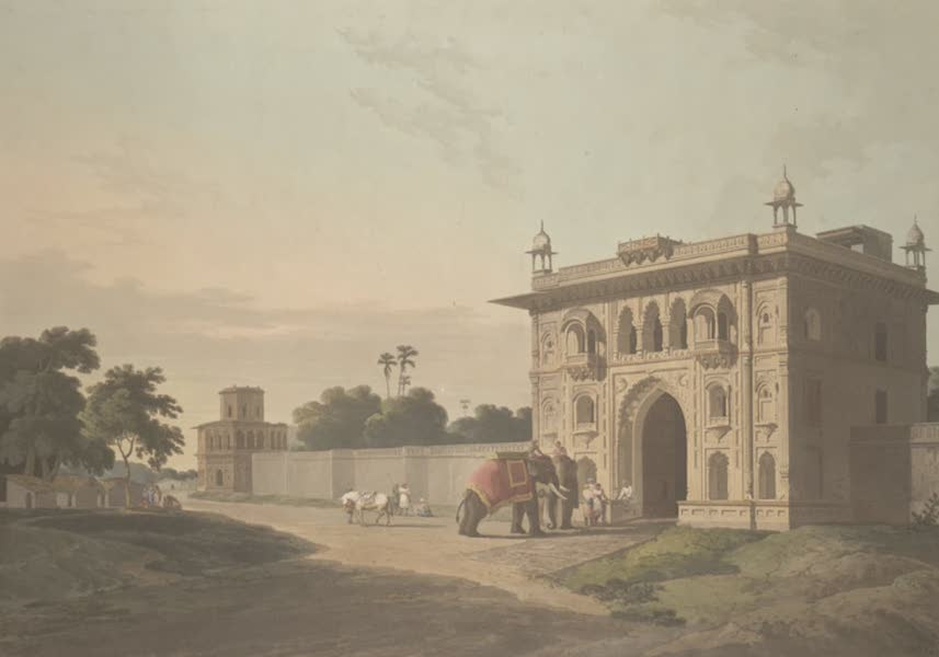 Oriental Scenery Vol. 3 - Gate of the Loll-Baug at Fyzabad (1802)