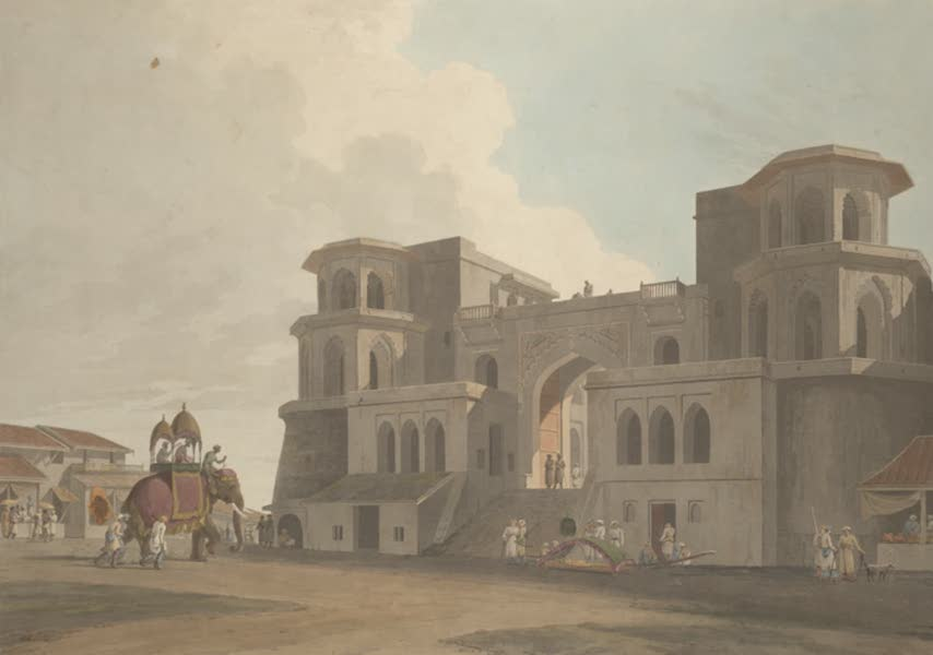Oriental Scenery Vol. 3 - The Punj Mahalla Gate, Lucknow (1802)