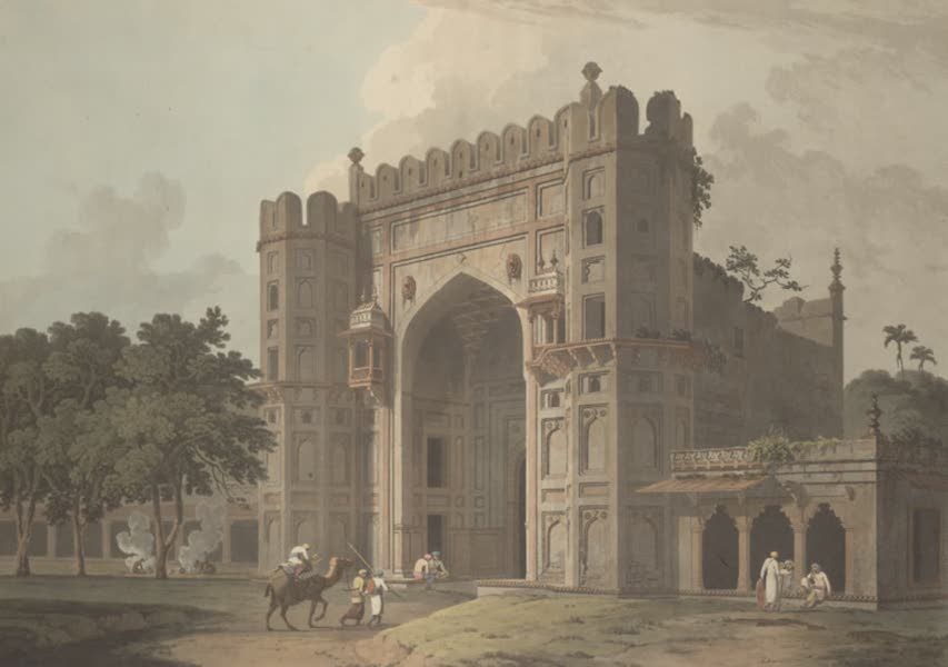 Oriental Scenery Vol. 3 - The entrance to the Mausoleums in Sultan Khusero's garden, near Allahabad (1802)