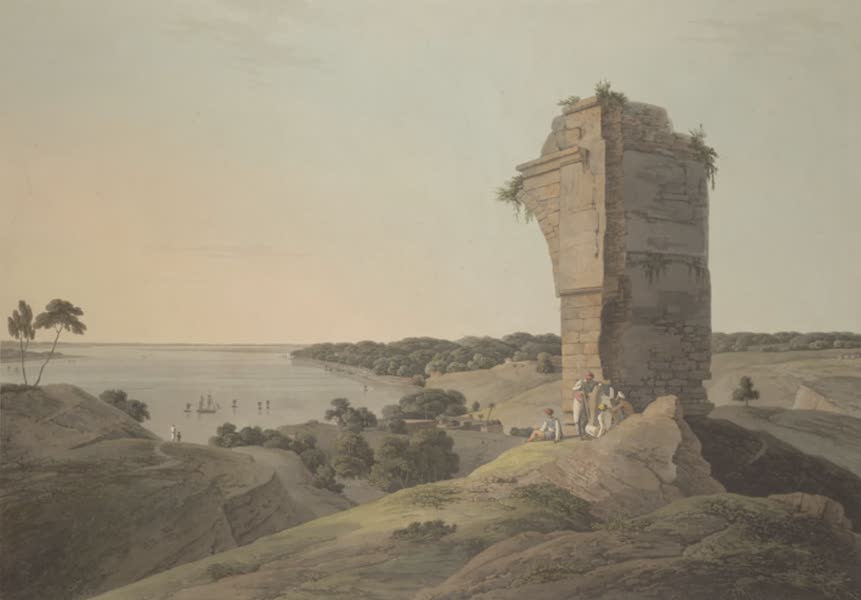 Oriental Scenery Vol. 3 - View from the ruins of the Fort of Currah, on the River Ganges (1802)