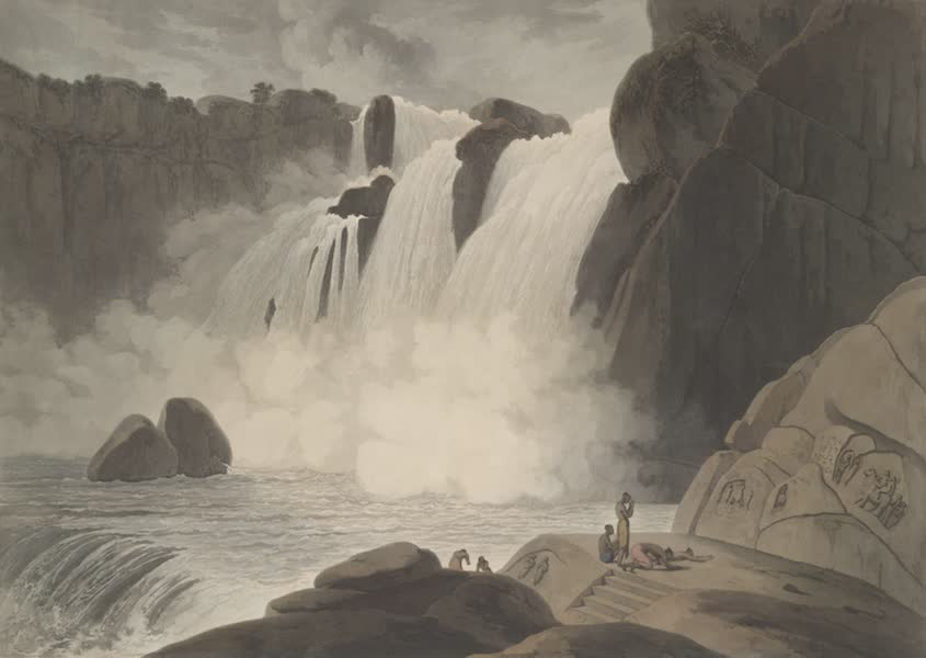 Oriental Scenery Vol. 4 - The waterfall at Puppanassum in the Tinnevelly district (1804)