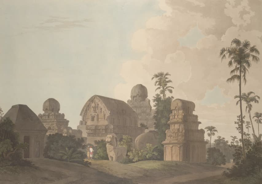 Oriental Scenery Vol. 5 - Sculptured Rocks, At Mavalipuram, On The Coast Of Coromandel (1808)