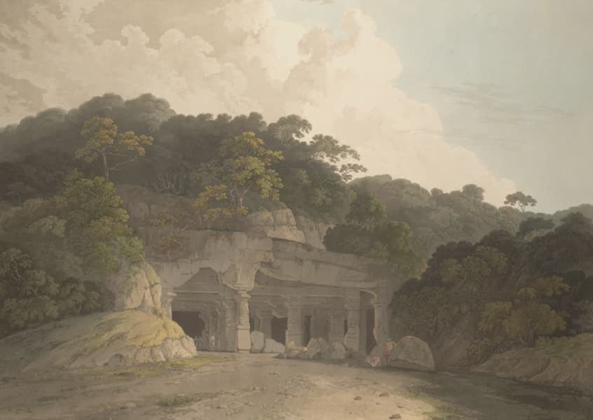 Oriental Scenery Vol. 5 - The entrance to the Elephanta Cave (1808)