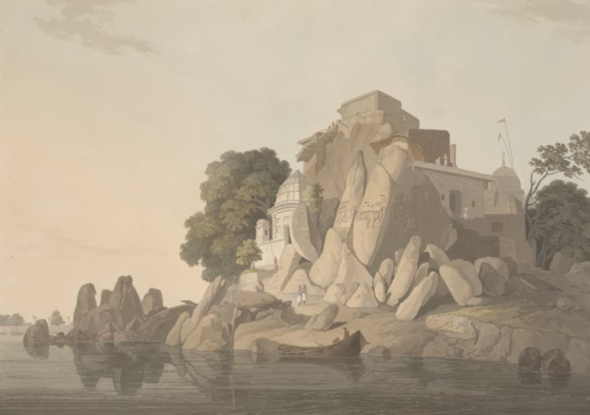 Oriental Scenery Vol. 5 - S.W. view of the Fakeer's Rock in the River Ganges (1808)