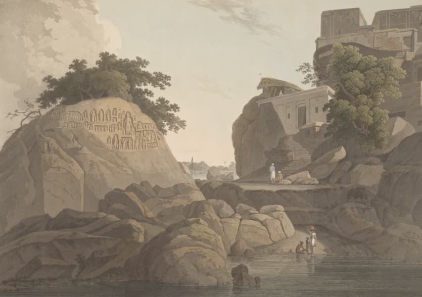 Oriental Scenery Vol. 5 - S.E. view of the Fakeer's Rock in the River Ganges (1808)