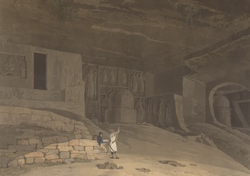 Oriental Scenery Vol. 5 - Part of the Kanaree Caves, Salsette (1808)