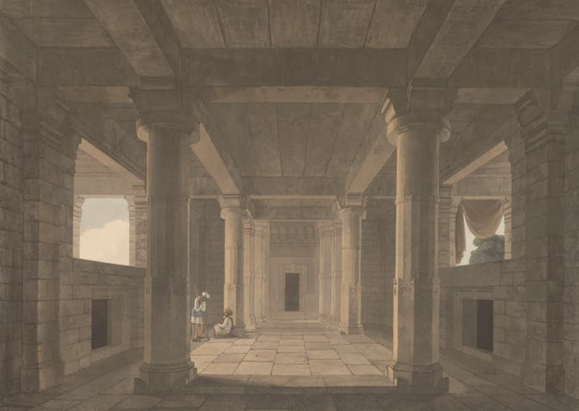 Oriental Scenery Vol. 5 - Interior of a Temple near Muddunpore (1808)