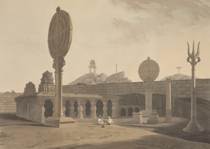 Oriental Scenery Vol. 5 - Entrance to a Hindoo Temple near Bangalore (1808)