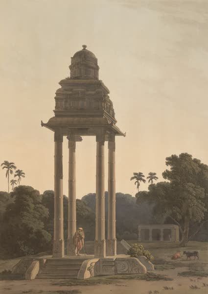 Oriental Scenery Vol. 5 - A pavilion, belonging to an Hindoo Temple (1808)