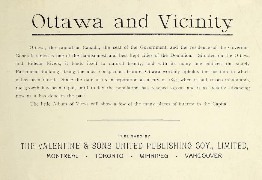 Ottawa and Vicinity - Title Page (1900)