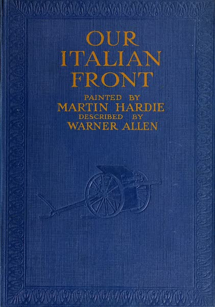 Our Italian Front - Front Cover (1920)