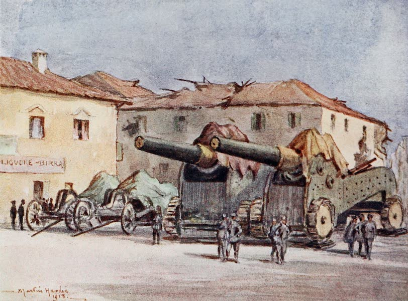 Our Italian Front - Heavy Guns in a Village at the Front (1920)