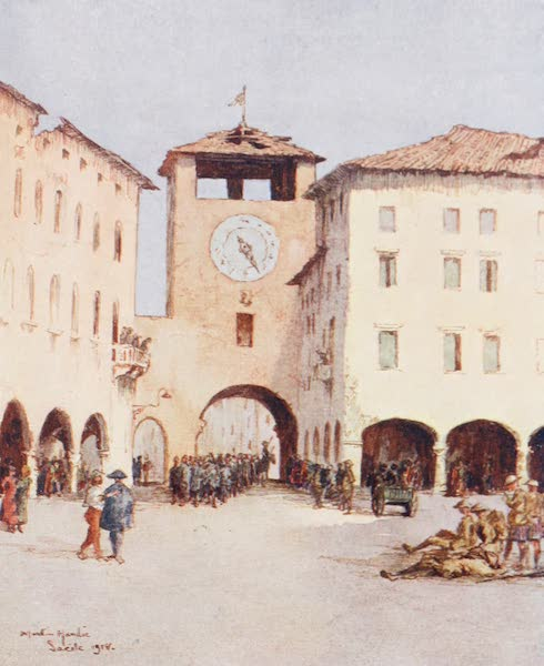 Our Italian Front - The Piazza, Sacile (1920)