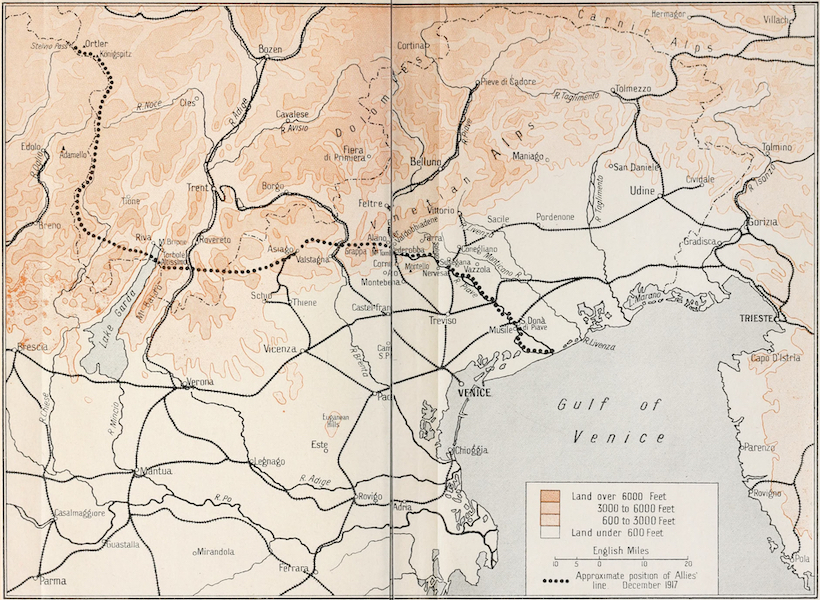 Our Italian Front - Sketch Map (1920)