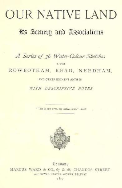 Our Native Land, Its Scenery and Associations - Title Page (1879)