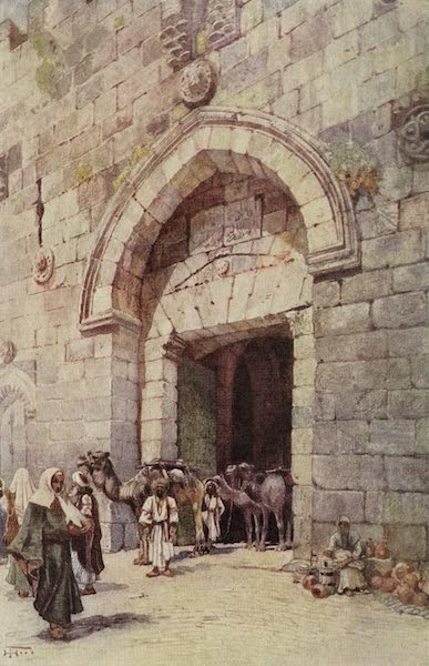 Out-of-Doors in the Holy Land - The Gate of David, Jerusalem (1908)