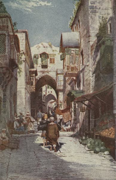 Out-of-Doors in the Holy Land - A Street in Jerusalem (1908)
