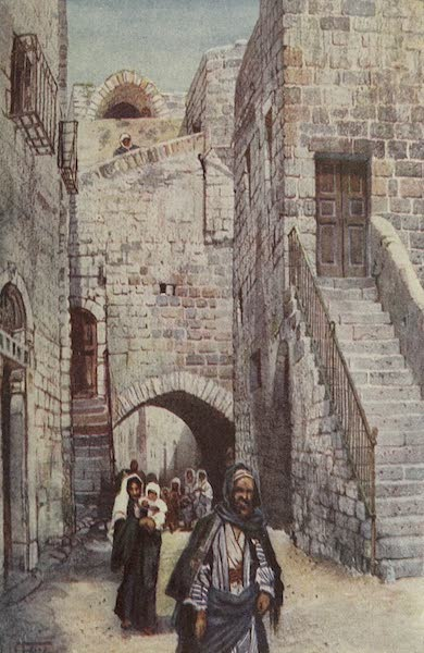 Out-of-Doors in the Holy Land - A Street in Bethlehem (1908)