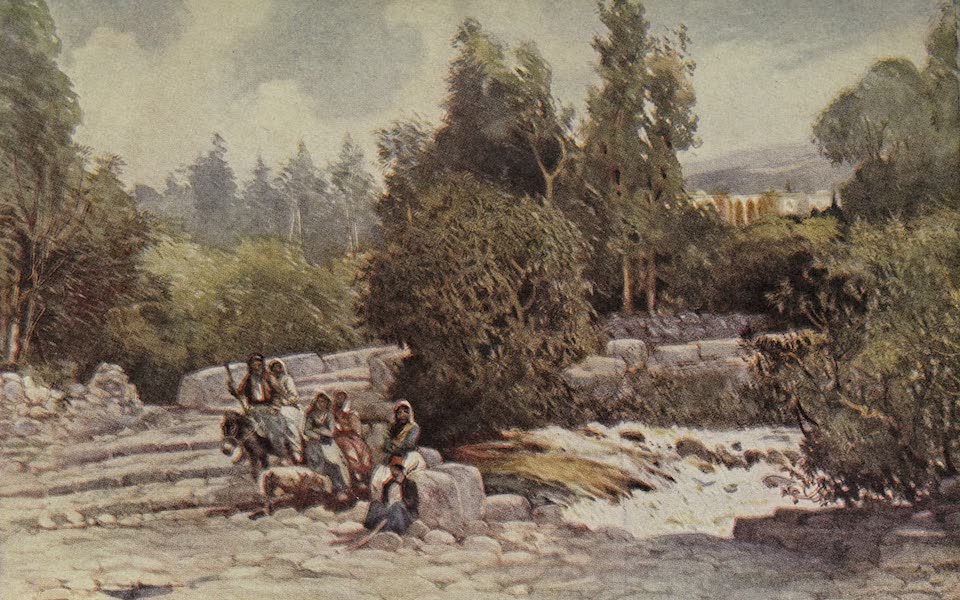 Out-of-Doors in the Holy Land - The Approach to Baniyas (1908)