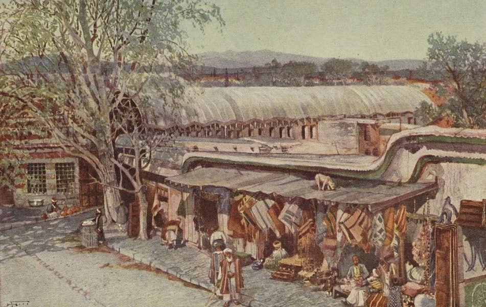 Out-of-Doors in the Holy Land - A Small Bazaar in Damascus (1908)